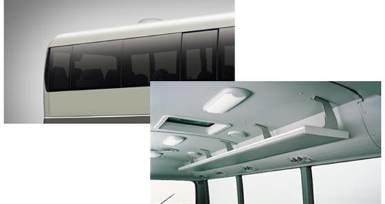 Tấm che nắng và kính chiếu hậu của xe Hyundai County